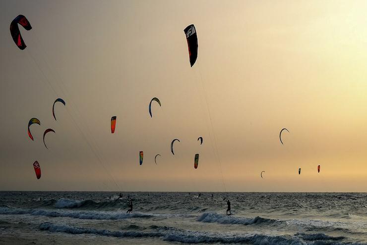 Kitesurfen Sonnenuntergang